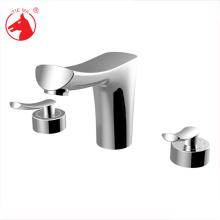 Dual Handle Sanitary Ware bathroom 3 hole sink faucet