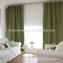 Plain Linen blackout curtain material