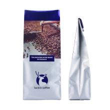 Coffee Tea Recyclable Customized Aluminum Foil Ziplock Pouch Block Flat Bottom Kraft Paper Packaging Bags