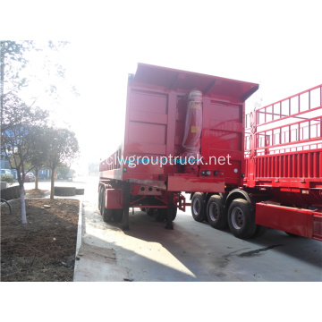 3 axls Rear Loader Transportasi Dump Truck