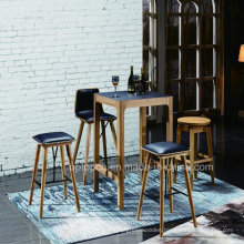 Black High Wood Furniture Sets Table and Bar Chair (SP-CT830)