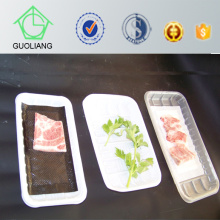 Meat & Poultry Display Absorbent Disposable Plastic Compartment Tray with Lid