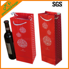 High Quality Art Paper Wine Bottle Carrying Bag