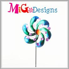 Piquet de fileurs de vent en métal de décor de jardin de collection de Basics