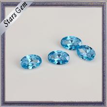 Zirconia cúbica azul de la aguamarina de calidad superior para la joyería