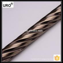 URO factory curtain rod wholesale, curtain rod diy, twist curtain rod