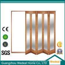 Solid Wood Bifolding Interior Room 4 Panel Door for Residential Project