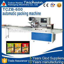 TCZB600 Hochgeschwindigkeitsnahrung Horizontale Flow Kissen-Art Verpackungsmaschine Preis