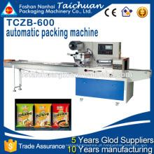 TCZB600 Alimentos de alta velocidade Fluxo horizontal Tipo de travesseiro Máquina de embalagem