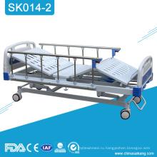 SK014-2 из нержавеющей стали больница 3 Ручная Мотылевая кровать