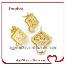 Conjunto de joias de aço inoxidável artesanal de moda de 2013