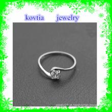 Projeto de prata do anel de diamante da amizade da jóia de prata 925 da venda
