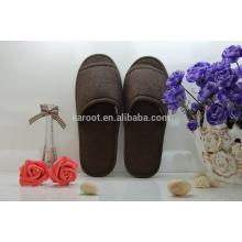 cheap soft personalized open toe hotel slipper