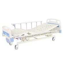 Prix d'usine de lit d'hôpital médical manuel à trois manivelles