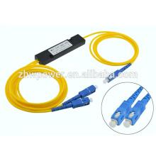 1X2 SC APC UPC Mini splitter divisor ótico divisor para Local Areal Networks LAN