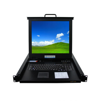 16port 32 Port optional Net Controller IP Rackmount Console KVM Switch with 19-inch LCD Display