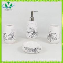Accesorios de baño de cerámica blanca, accesorios de baño