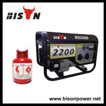 BISON (CHINA) BS2500NG Gerador Fornecedor Gerador de Gás Preço gasolina gerador peças sobressalentes