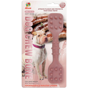 "Percell 7.5 ""Dura Chew Toy Dumbbell Sausage Scent"