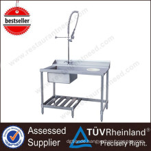 2017 Cheap Kitchen Counter top Dishes Washing Commercial Manual Dish wash