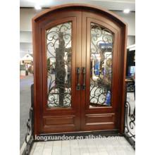 Porta de madeira de ferro forjado, porta de ferro, porta de ferro forjado