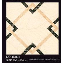 Azulejos de piso pulidos de la porcelana / azulejo de piso esmaltado de cerámica