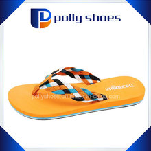 Bon prix Meilleures ventes USA Outdoor Fashion Women Woven Straw Shlipper, Straw Flip Flop