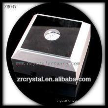 Square Plastic LED Light Base for Crystal