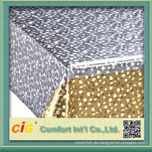 Gold und Silber Metallic geprägte PVC Tischdecke