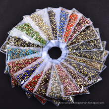 Factory Price Custom Rhinestone Transfer Glass Jelly Rhinestones Flat Back Non Hotfix For Cloth Diy