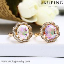 13147 conception unique bijoux coloré bague en or design pour les femmes