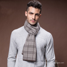 Men′s Winter Warm Wool Polyester Nylon Acrylic Woven Scarf (YKY4604)