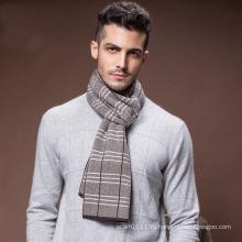 Мужская зима теплая шерсть полиэстер нейлон акриловые тканые шарф (YKY4604)