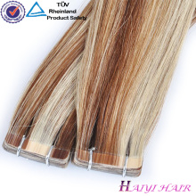 Large Stock Top Quality Virgin Hair Glue Tape Hair Extension