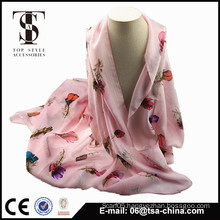 2014 hot selling feather printed head scarf