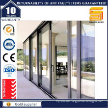 High Quality Tempered Glass Aluminium Lift and Sliding Door
