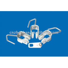 Iron curtain runner or carrier-awning wheel-awning components