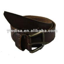 Vente en gros de ceinture de ceinture en cuir pleine fleur à homme avec prix d'usine