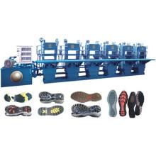 Máquina de moldeo hidráulica automática de la suela de goma