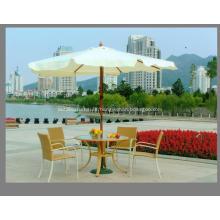 Deluxe Garden Weatherproof Wooden Sun Straight Umbrella