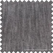 Schwarzes Baumwoll-Viskose-Leinen-Tencel-Denim-Gewebe