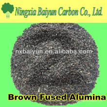 abrasivo 80mesh Grão de óxido de alumínio marrom para explosão de areia em vidro plano
