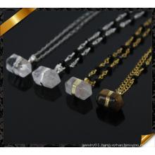 Natural Point Quartz Druzy Pendant Necklace, Wholesale Gemstone Crystal Necklace Fashion Rosary Necklace (CN005)