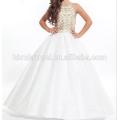 Luxury Beading Crystal Spaghetti Strap Ball Gown Sleevelss Floor Length white 2017 Flower Girl Dresses