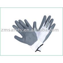 13 Gauge nitrile coated nylon working glove