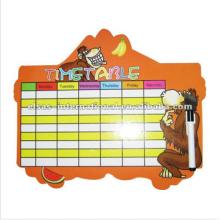 tabela de horário, tabuleiro de mesa de semana, tabuleta de cortar