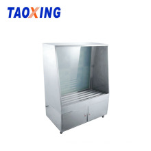 Cabina de lavado de pantallas de acero inoxidable con pistola de alta presión