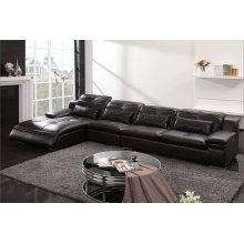 Cor preta de couro, sofá moderno, sala de estar sofá (M0411)
