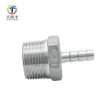 Le connecteur droit de tuyau de filetage de la qualité évasée 304 de haute qualité a évasé le raccord
