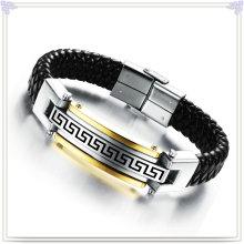 Bracelet en acier inoxydable bracelets en cuir bracelet en cuir (LB101)